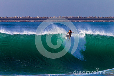 Timing Error Wave Surfer  Editorial Image