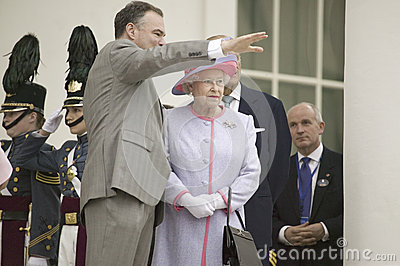 Timothy M. Kaine  and Her Majesty Queen Elizabeth II Editorial Photography