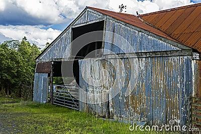 Tin Barn Stock Photo Image 44887510