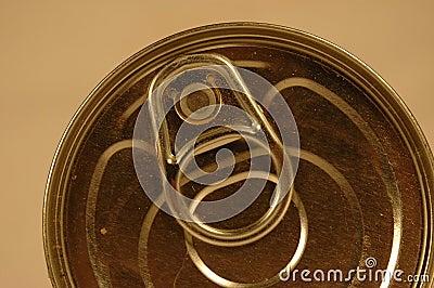 Tin can closeup