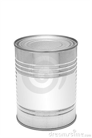 Tin can, isolated