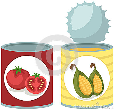 Free Tin Can Tomato And Corn Soup Royalty Free Stock Image - 51324696