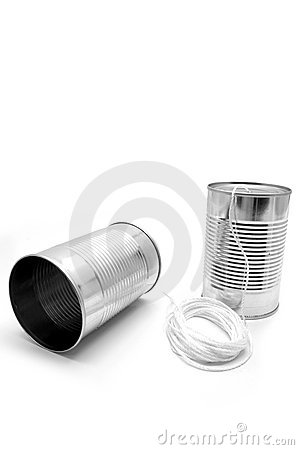 Free Tin Cans And String Royalty Free Stock Image - 527686