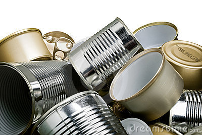 Tin cans for recycling