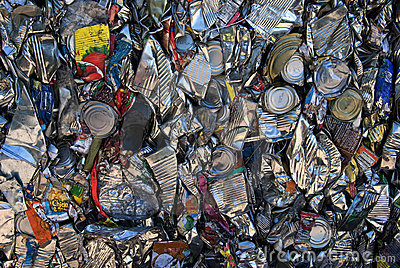 Tin cans recycling