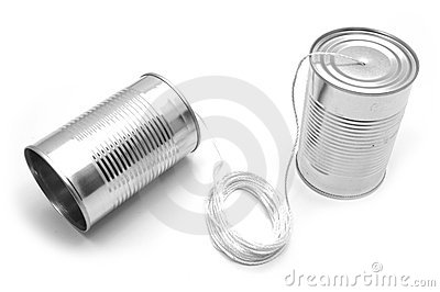 Tin cans and string