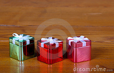 Tin Christmas boxes