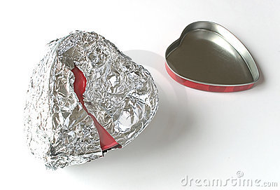Tin foil heart can