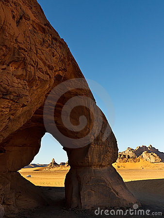 Tin Lebbo Arch - Natural Rock Arch - Akakus, Libya