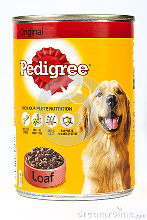 Free Tin Of Pedigree Dog Food Stock Image - 73246861