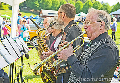 Tin Pan Alley Jazz Band at Forres Theme day. Editorial Photography