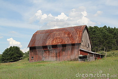 Tin roofed barn