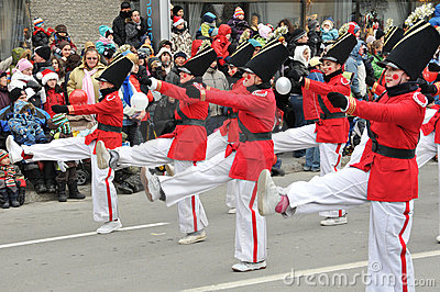 Tin soldiers marching by... Editorial Image