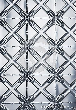 Tin Stamped Metal Background