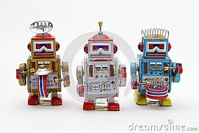 Tin Toy Robots