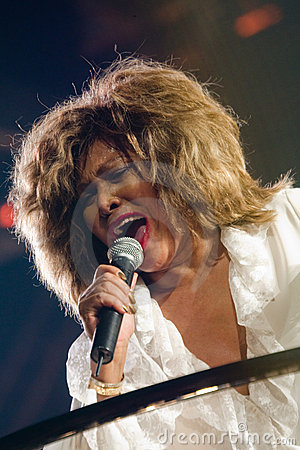 Tina Turner Live in Montreal Editorial Stock Image