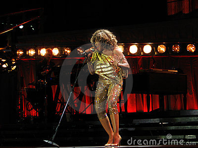 Tina Turner live in Prague concert Editorial Photography