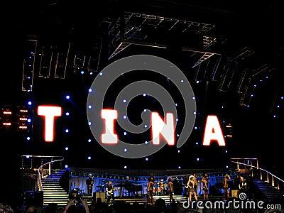 Tina Turner live in Prague concert Editorial Photography