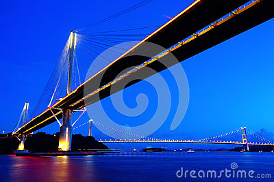 Ting Kau Bridge in Hong Kong