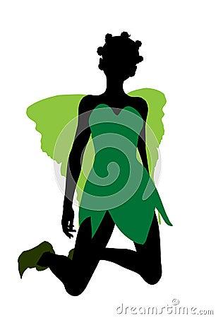 Tinker Bell Silhouette Illustration