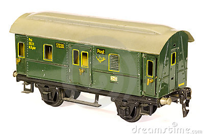 Tinplate german toy 1930s railroad  post van