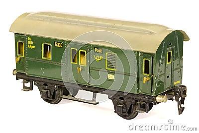 Tinplate german toy 1930s railroad  post van