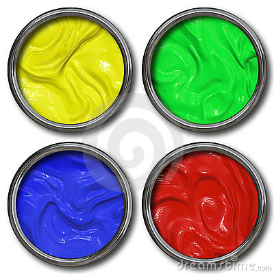 Free Tins Of Paint Stock Photo - 12486290
