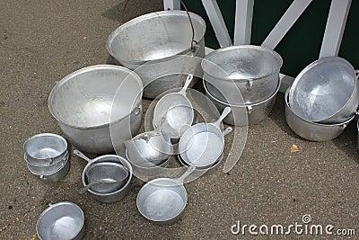 Tinsmith silver pot