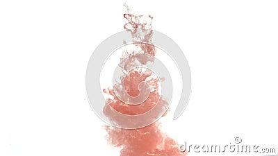 Tinta de cobre na água filme
