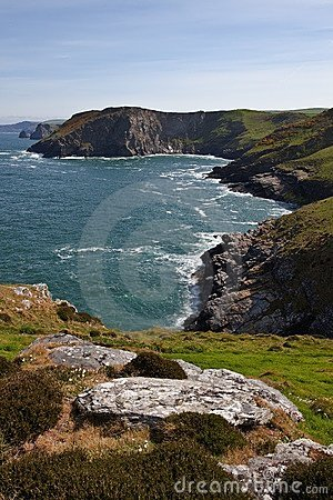 Tintagel in Cornwall England