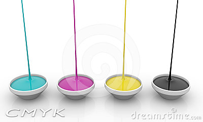 Tintas del líquido de CMYK