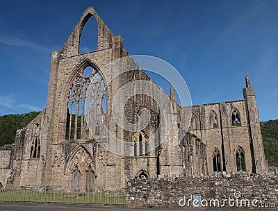 Tintern Abbey historical ruins, Wales