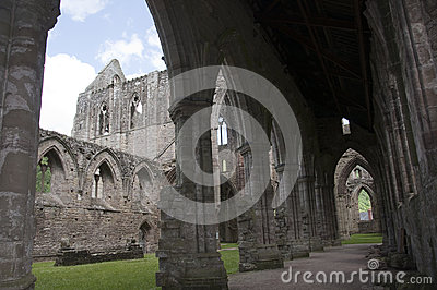 Tintern Abbey Nave in Wales
