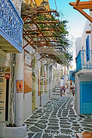 Free Tiny Colorful Mykonos Stock Image - 2453901