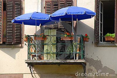 Tiny French balcony