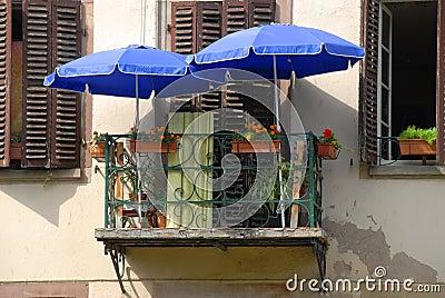 Tiny French balcony