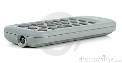 Tiny gray remote control