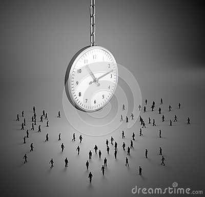 Tiny people clock Stock Photo