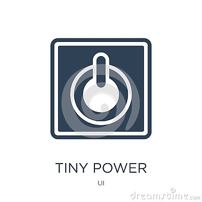 tiny power icon in trendy design style. tiny power icon isolated on white background. tiny power vector icon simple and modern Vector Illustration
