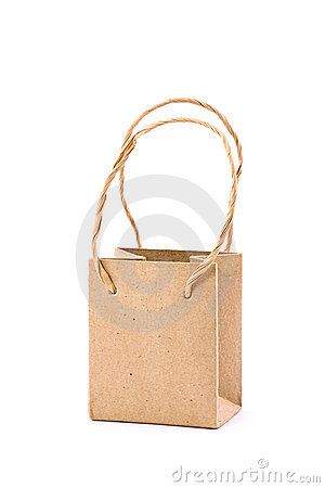 Tiny Recycled Paper Bag