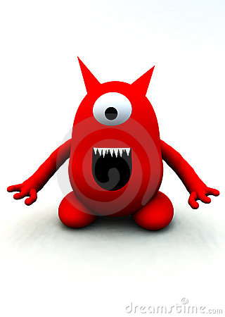 Tiny Red Monster