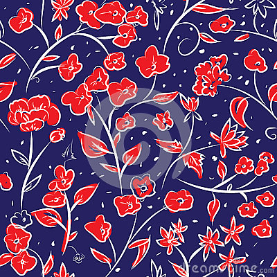 Free Tiny Spring Flowers Doodle Drawing Pattern Royalty Free Stock Image - 74702036