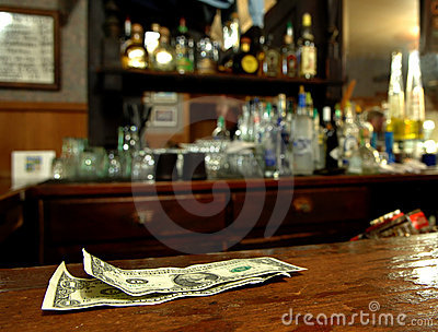 Tip Money On The Bar