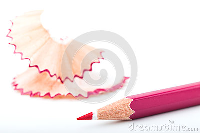 Tip point of pink pencils