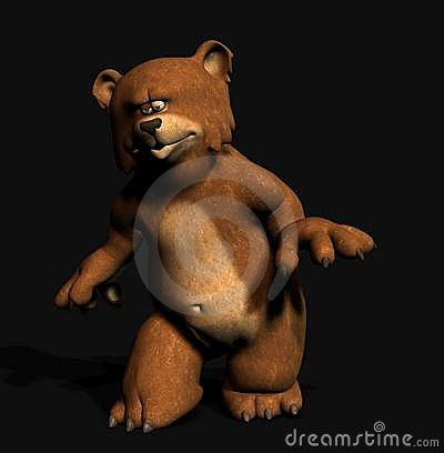 Tip-toeing bear