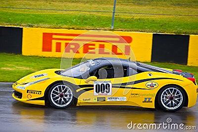Tip trades Ferrari racing at Montreal Grand prix Editorial Stock Image