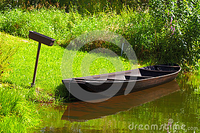 Tipically spreewald boat