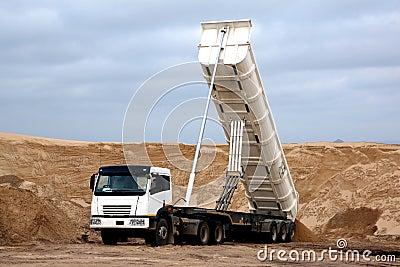 Tipper Truck in Sand Quarry