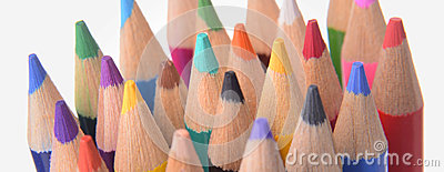 Tips of Colored Pencils