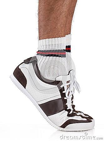 Tiptoe foot